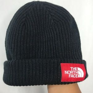 Black Knitted TNF North Face Beanie